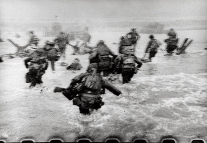 Robert Capa-American Troops landing on Omaha Beach, D-Day, Normandy, France, June 6, 1944