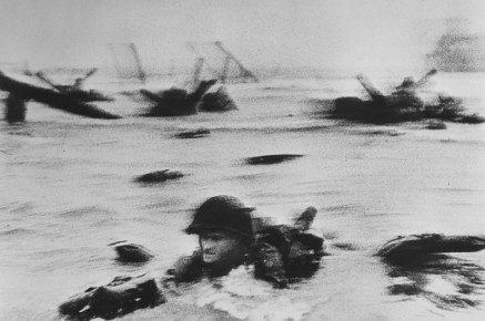 Robert Capa American soldiers landing on Omaha Beach, D-Day, Normandy, France June 6, 1944