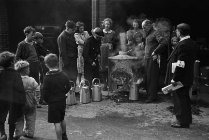 George Rodger-The Blitz. Canteen in public shelter, London, 1940