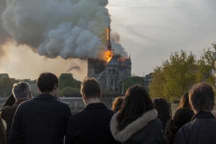 Patrick Zachmann – A fire engulfed parts of Notre Dame, the 13th century cathedral. Paris, France, April 15, 2019